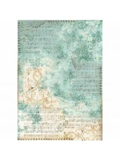 Рисовая бумага для декупажа Ноты и орнамент, Stamperia формат А3