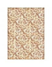 """Рисовая бумага для декупажа Stamperia DFSA3018 """"Орнамент с цветами и листьями"""", формат А3"""