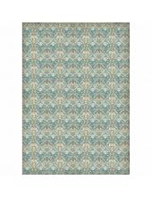 """Рисовая бумага для декупажа Stamperia DFSA3020 """"Орнамент в бирюзовых тонах"""", формат А3"""