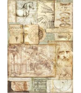 "Рисовая бумага для декупажа Stamperia DFSA3046 ""Леонардо"", формат А3"