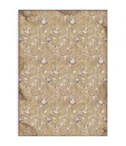 """Рисовая бумага для декупажа Stamperia DFSA3083 """"Леди Бродяжка - белые цветы"""", формат А3"""