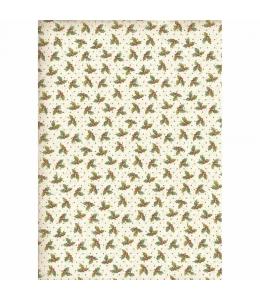 """Рисовая бумага для декупажа Stamperia DFSA4311 """"Рождественские листочки"""", формат А4"""