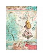 "Рисовая бумага для декупажа Stamperia DFSA4349 ""Алиса"", формат А4"