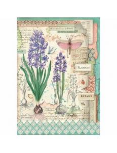 """Рисовая бумага для декупажа Stamperia DFSA4363 """"Ботаника, луковичные"""", формат А4"""
