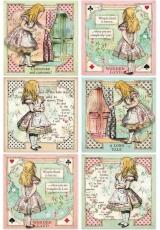 """Рисовая бумага для декупажа Stamperia DFSA4382 """"Алиса в стране чудес"""", формат А4"""