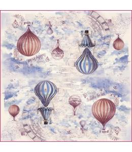 """Рисовая салфетка для декупажа Stamperia DFT259 """"Воздушные шары"""", 50х50 см"""