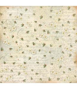"Рисовая салфетка для декупажа Stamperia DFT288 ""Рождественский текст"", 50х50 см"