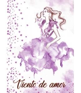 "Рисовая бумага с контуром рисунка ""Вьенте - де - Амор"", формат А4, Stamperia DFTMA408"
