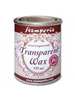 Воск полироль прозрачный для финишной отделки Transparent wax, 125 мл, Stamperia