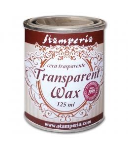 """Воск полироль нейтральный (прозрачный) """"Transparent wax"""", 125 мл, Stamperia"""