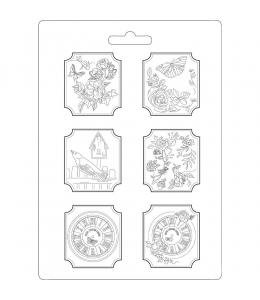 """Форма для моделирования """"Дом из роз"""" 21х29,7 см, Stamperia"""