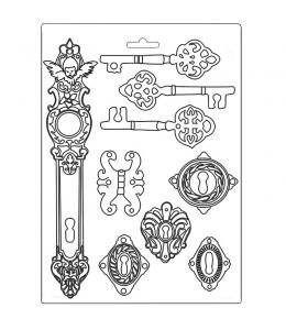"""Форма для моделирования """"Леди Бродяжка - ключи"""" 21х29,7 см, Stamperia"""