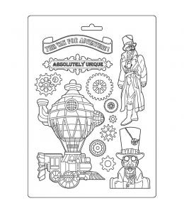 """Форма для моделирования """"Бродяга - поезд"""" 21х29,7 см, Stamperia"""