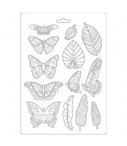 """Форма для моделирования """"Амазония - листья и бабочки"""" 21х29,7 см, Stamperia"""
