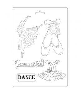 """Форма для моделирования """"Страсть - балерина"""" 21х29,7 см, Stamperia"""