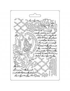 "Форма для моделирующих паст ""Бабочка и рукописи"", 14,8х21,0 см, Stamperia"