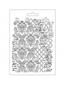 "Форма для моделирующих паст ""Орнамент и текст"", 14,8х21,0 см, Stamperia"