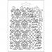 "Молд для декора ""Орнамент и текст"", 14,8х21,0 см, Stamperia"