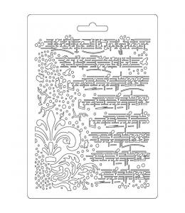 """Форма для моделирующих паст """"Орнамент и ноты"""", 14,8х21,0 см, Stamperia"""