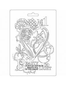 "Форма для моделирующих паст ""Сердце"", 14,8х21,0 см, Stamperia"
