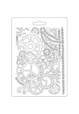 """Форма для моделирующих паст """"Часы и механизмы"""", 14,8х21,0 см, Stamperia"""