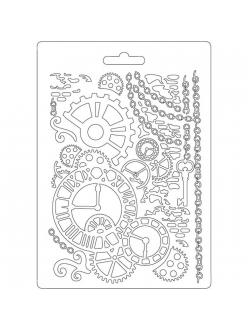 "Молд для декора ""Часы и механизмы"", 14,8х21,0 см, Stamperia"