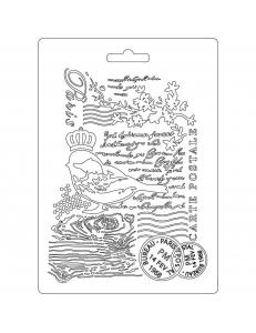 """Форма для моделирующих паст """"Птица и текст"""", 14,8х21,0 см, Stamperia"""