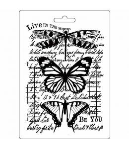 "Форма для моделирующих паст ""Бабочки"", 14,8х21,0 см, Stamperia"