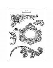 "Форма для моделирующих паст ""Спирали"", 14,8х21,0 см, Stamperia"