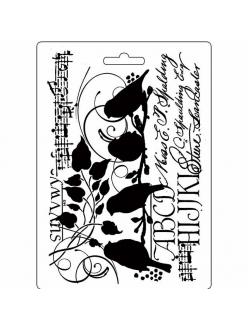 """Молд для декора """"Птицы"""", 14,8х21,0 см, Stamperia"""