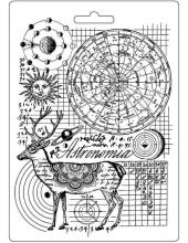 """Форма для моделирующих паст """"Космос Олень"""", 14,8х21,0 см, Stamperia"""