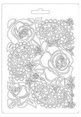 """Форма для моделирующих паст """"Мягкие розы"""", 14,8х21,0 см, Stamperia"""