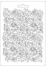 """Форма для моделирующих паст """"Цветы и листья"""", 14,8х21,0 см, Stamperia"""