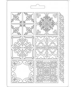 """Форма для моделирующих паст """"Плитка Азулежу"""", 14,8х21,0 см, Stamperia"""