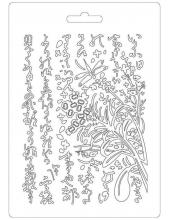 """Форма для моделирующих паст """"Восточный сад"""", 14,8х21,0 см, Stamperia"""