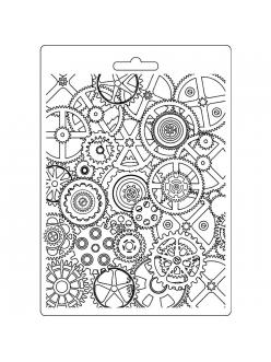 """Молд для декора """"Механизмы"""", 14,8х21,0 см, Stamperia"""