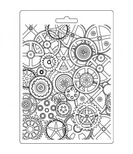 """Форма для моделирующих паст """"Механизмы"""", 14,8х21,0 см, Stamperia"""
