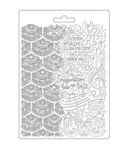 "Форма для моделирующих паст ""Музыка"", 14,8х21,0 см, Stamperia"