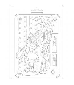 """Форма для моделирующих паст """"Алиса"""", 14,8х21,0 см, Stamperia"""