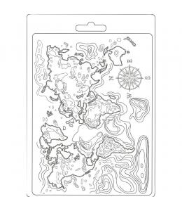 """Форма для моделирующих паст """"Карта мира"""", 14,8х21,0 см, Stamperia"""