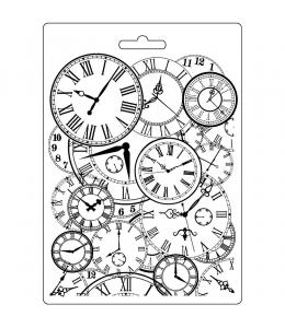 """Форма для моделирующих паст """"Часы"""", 14,8х21,0 см, Stamperia"""