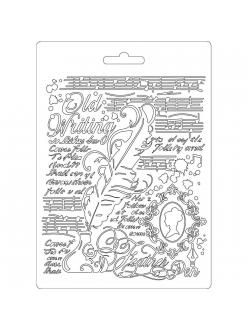 "Молд для декора ""Перо"", 14,8х21,0 см, Stamperia"