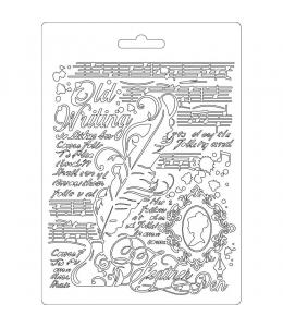 """Форма для моделирующих паст """"Перо"""", 14,8х21,0 см, Stamperia"""