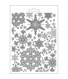 "Форма для моделирующих паст ""Снежинки"", 14,8х21,0 см, Stamperia"