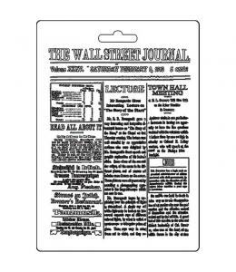 """Форма для моделирующих паст """"Журнальные статьи"""", 14,8х21,0 см, Stamperia"""