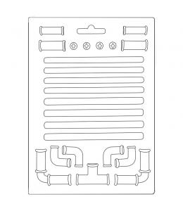 "Форма для моделирующих паст ""Леди Бродяжка - трубы"", 14,8х21,0 см, Stamperia"