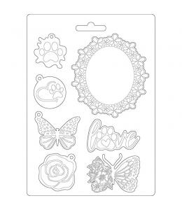 """Форма для моделирующих паст """"Круговорот любви - рамки с бабочками"""", 14,8х21,0 см, Stamperia"""