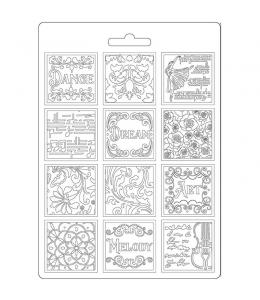 """Форма для моделирующих паст """"Страсть - музыка пэчворка"""", 14,8х21,0 см, Stamperia"""