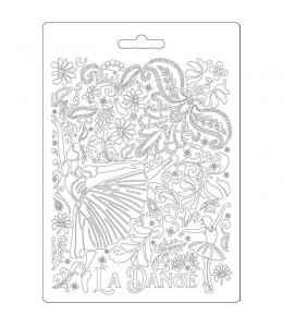 """Форма для моделирующих паст """"Страсть - балерина"""", 14,8х21,0 см, Stamperia"""