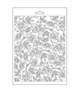 """Форма для моделирующих паст """"Ателье - Ван Гог цветы"""", 14,8х21,0 см, Stamperia"""